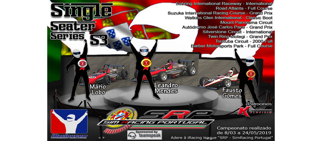 SimRacing Portugal, Single Seater Series