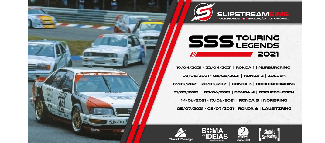 SlipStreamSims – Touring Legends 2021, rFactor2